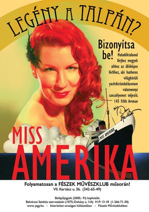 Miss America plakát, Rátkai Márton Színházi Műhely